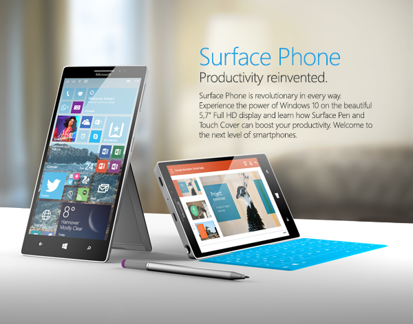 Смартфон Microsoft Surface Phone стоит ожидать лишь через год или два