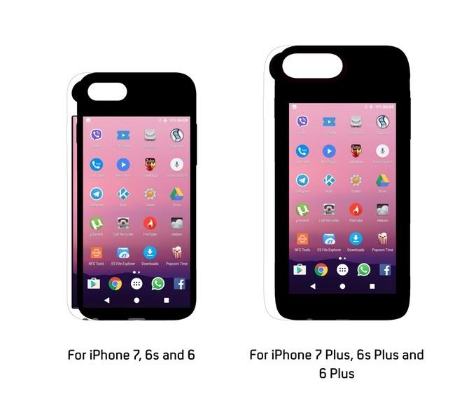 Чехол Eye помещает на заднюю панель iPhone смартфон с ОС Android