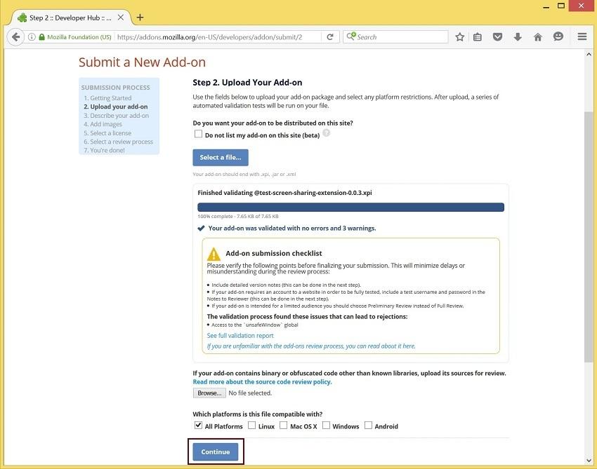 Скриншаринг на сайте по WebRTC из браузера Mozilla Firefox - 10