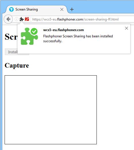 Скриншаринг на сайте по WebRTC из браузера Mozilla Firefox - 14