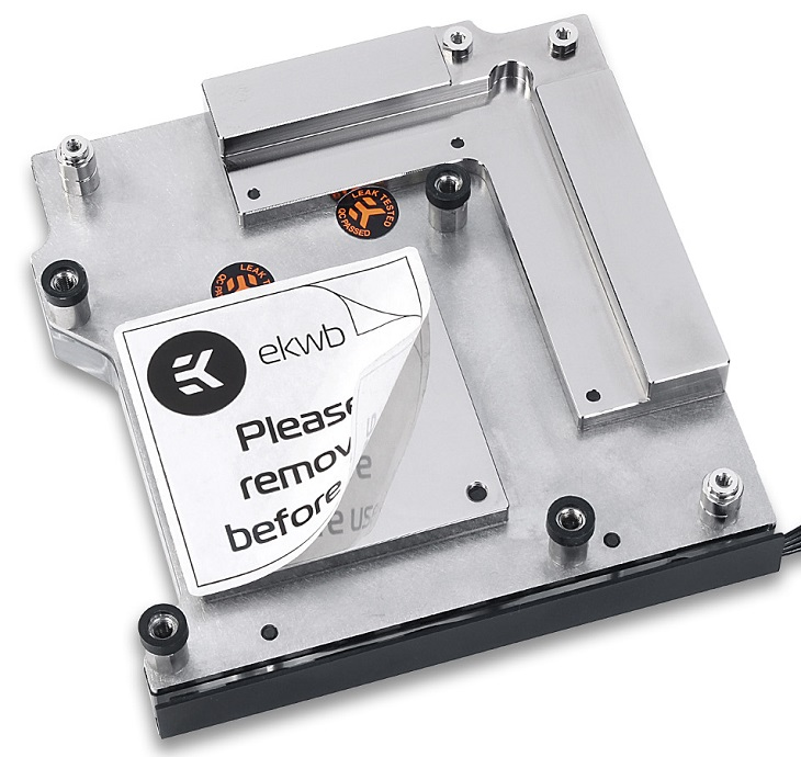 Модель EK-FB Asus Z270E Strix RGB Monoblock основана на водоблоке EK-Supremacy EVO
