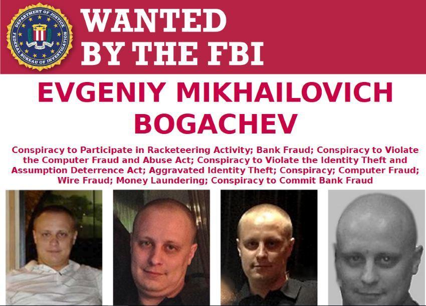 За российского хакера Евгения Богачева ФБР назначило награду в $3 млн - 1