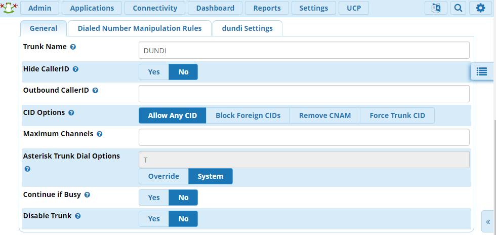 Настройка DUNDi в Asterisk, под управлением FreePBX - 3