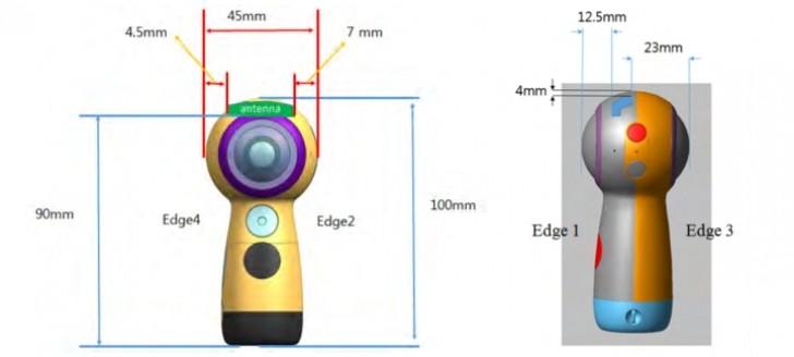 Камера Next Gear 360 будет миниатюрной — 100 мм в высоту и 45 мм в диаметре
