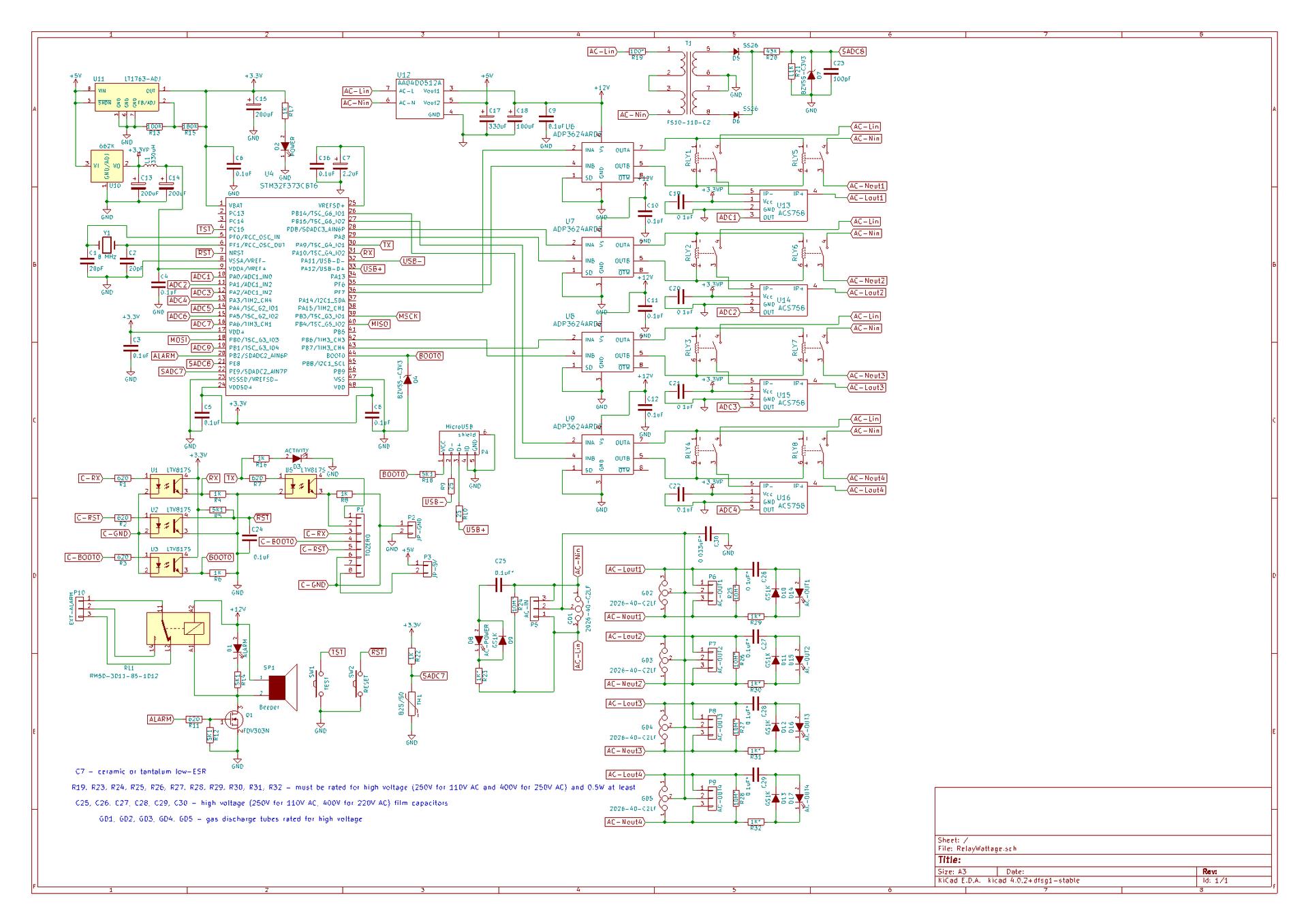 8-киловаттный 4-канальный коммутатор AC с измерением потребления. Часть 1 - 2