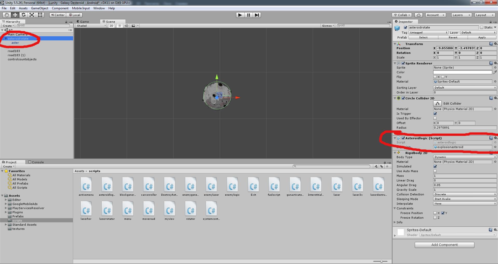 Разработка космической стрелялки для android с использованием игрового движка Unity3D - 13