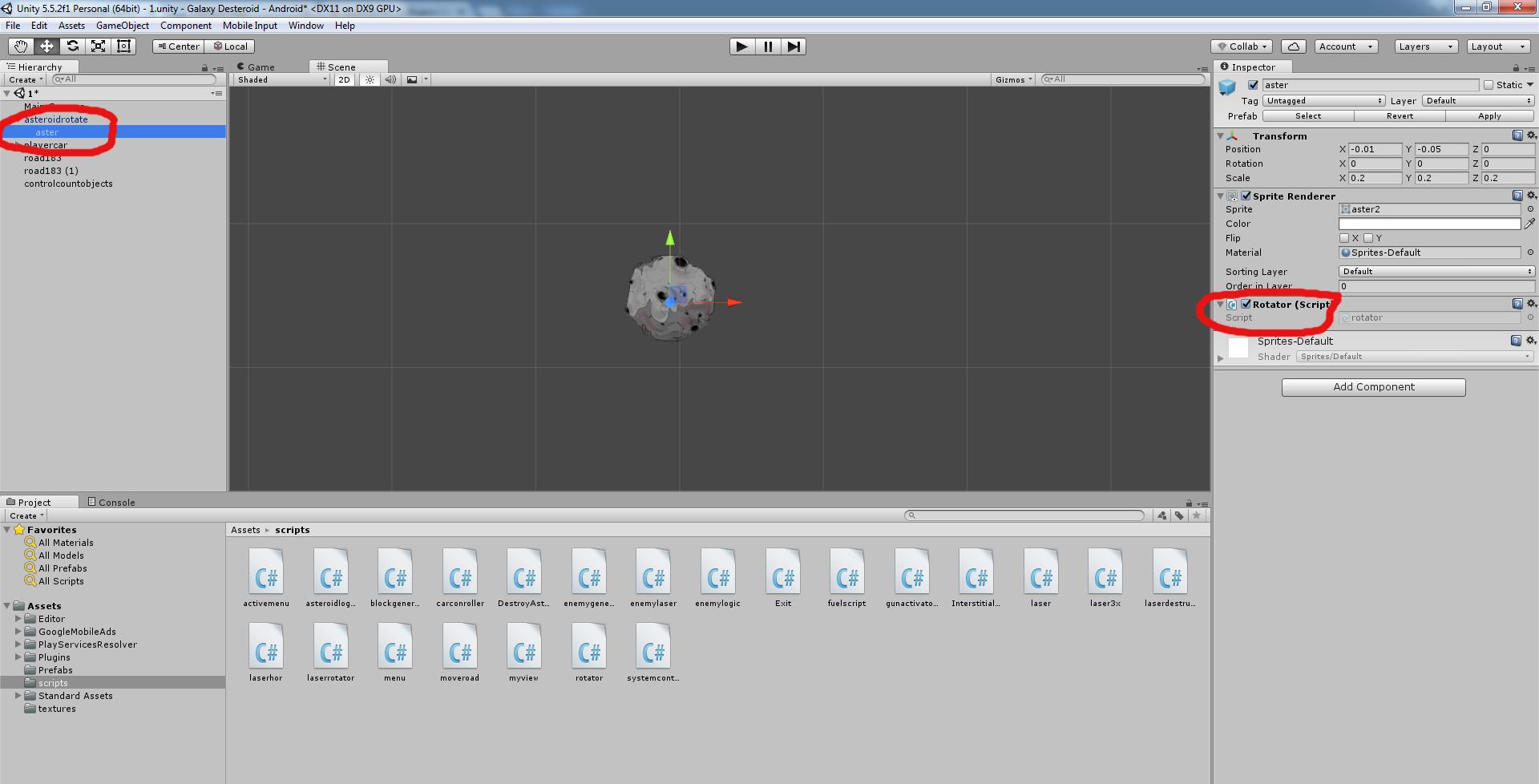 Разработка космической стрелялки для android с использованием игрового движка Unity3D - 14