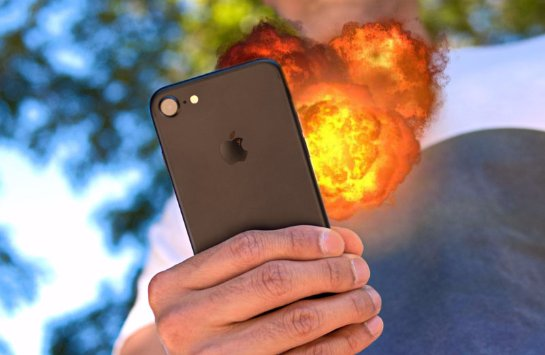 iPhone взорвался в руках владельца