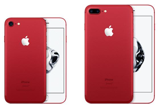 Apple представила красный iPhone 7 и iPhone SE с 32 и 128 ГБ флэш-памяти