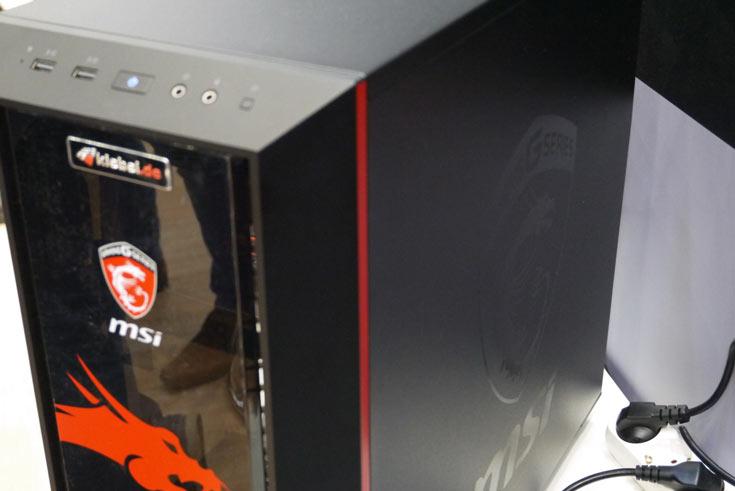 Так выглядит система в корпусе Masterbox 5 MSI Edition