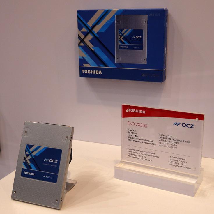 Основу экспозиции Toshiba на выставке CeBIT 2017 составили HDD, SSD и флэш-накопители