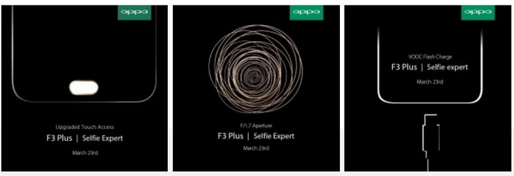 Oppo F3 Plus получит поддержку технологии VOOC и камеру с диафрагмой F/1,7