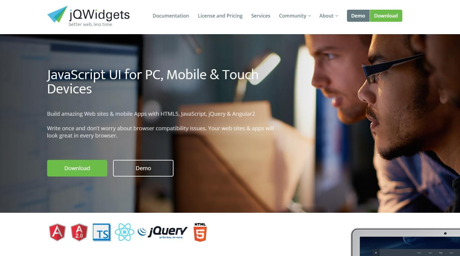 Топ-5 альтернатив jQuery UI - 7