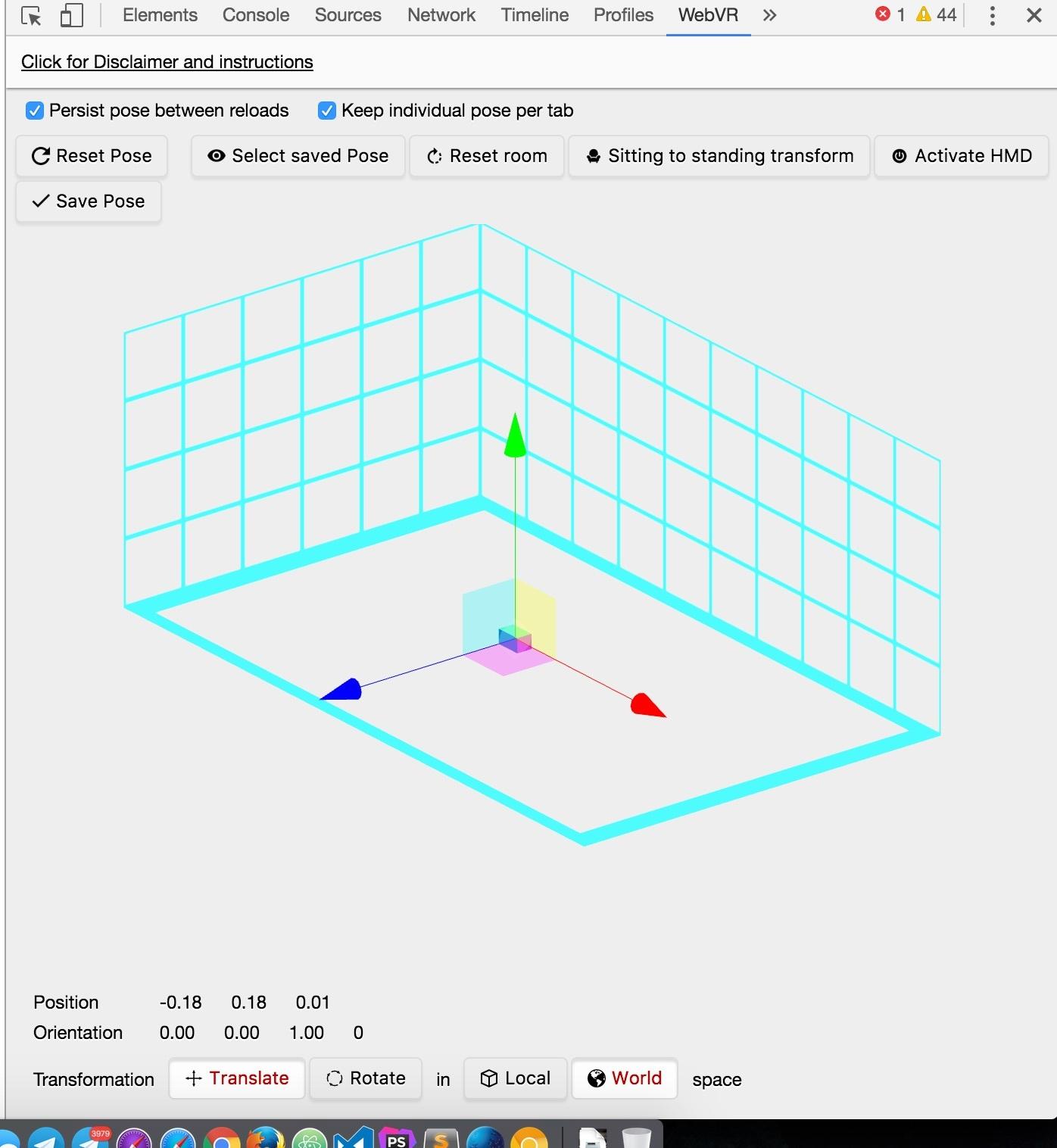 VR-AR в браузере. Как быстро влиться и сделать свое первое приложение, используя WebVR API - 11