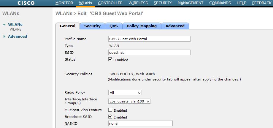 Интерфейсы контроллеров HPE Aruba и Cisco - 5