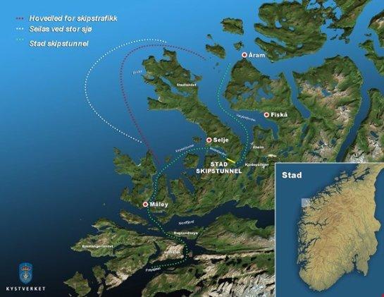 В Норвегии планируют строительство первого в мире судоходного туннеля