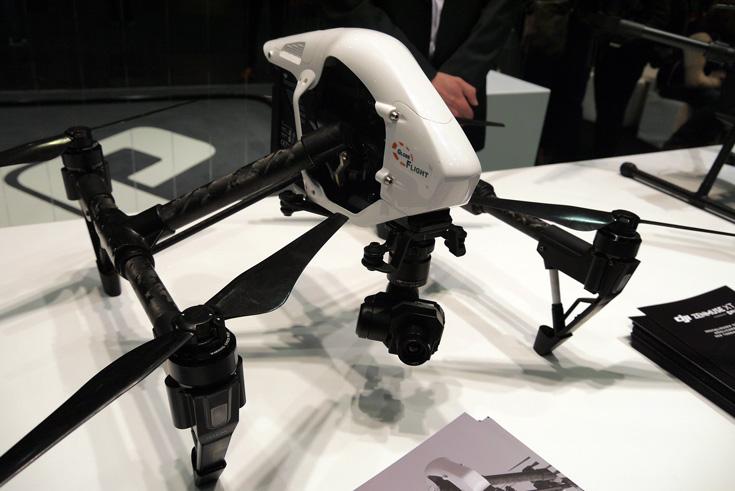 Компания DJI привезла в Ганновер дрон Inspire 2 и другие модели