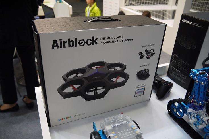 Помимо сухопутных роботов, предложен набор для сборки дрона