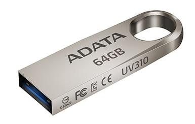 Накопитель Adata UV310 заключен в цинковый корпус