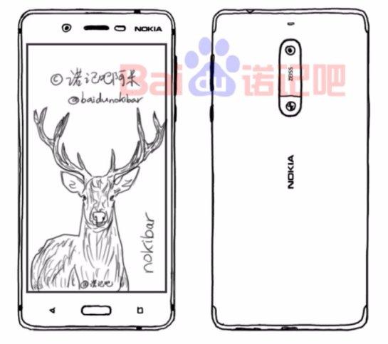 Появились рисунки нового смартфона Nokia