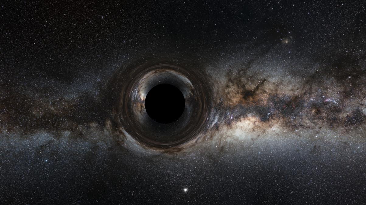 Астрономы впервые обнаружили гравитационный выброс гигантской черной дыры из центра далекой галактики - 1