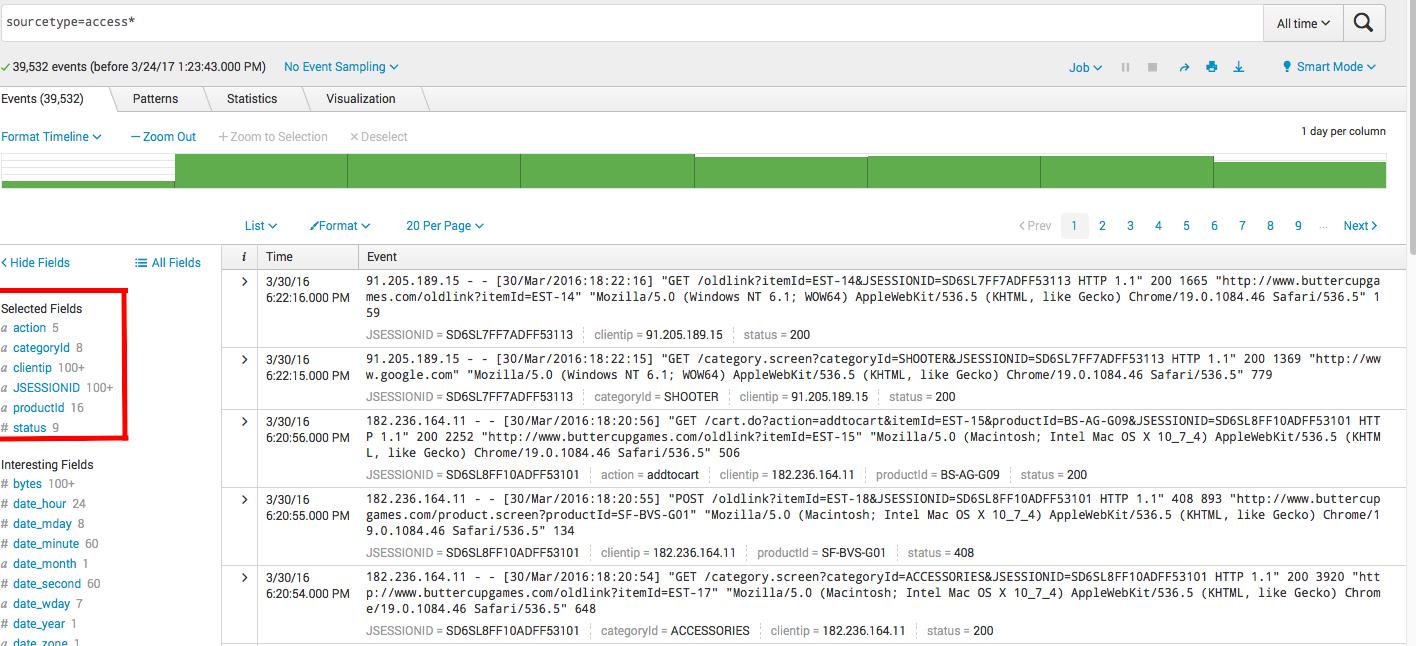 Splunk. Введение в анализ машинных данных — часть 2. Обогащение данных из внешних справочников и работа с гео-данными - 2