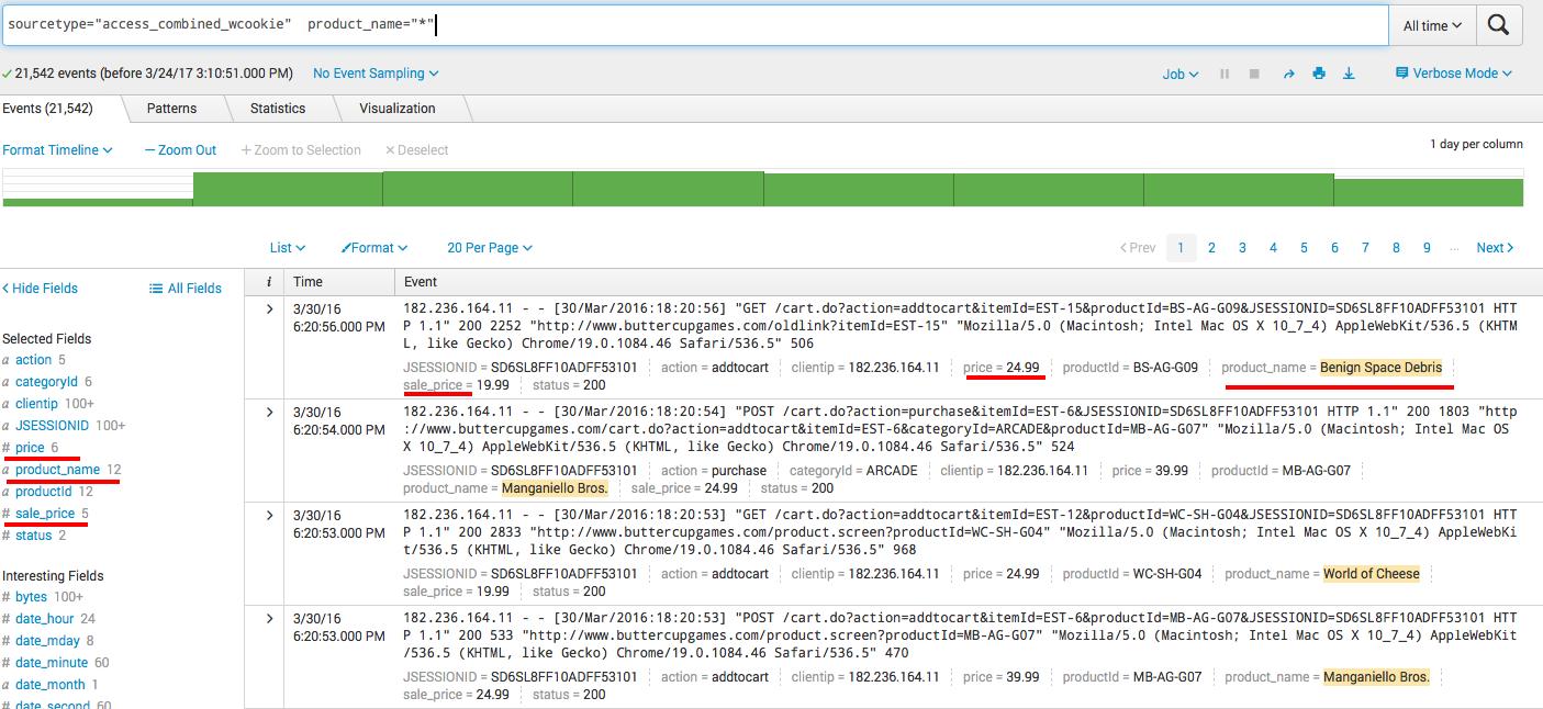 Splunk. Введение в анализ машинных данных — часть 2. Обогащение данных из внешних справочников и работа с гео-данными - 6