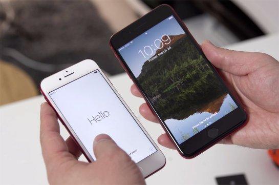 Красный iPhone 7 с черной рамкой выглядит роскошно