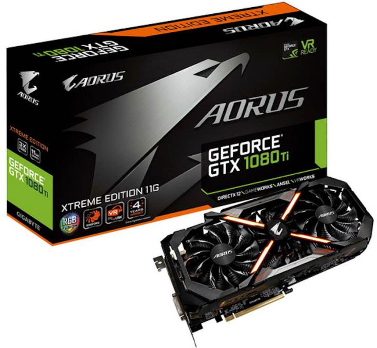 3D-карта GeForce GTX 1080 Ti Aorus Extreme Edition будет стоить $749