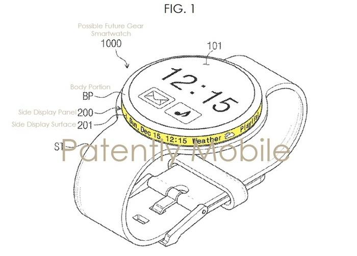 Новое поколение часов Samsung Gear может получить дополнительный дисплей, встроенный в безель
