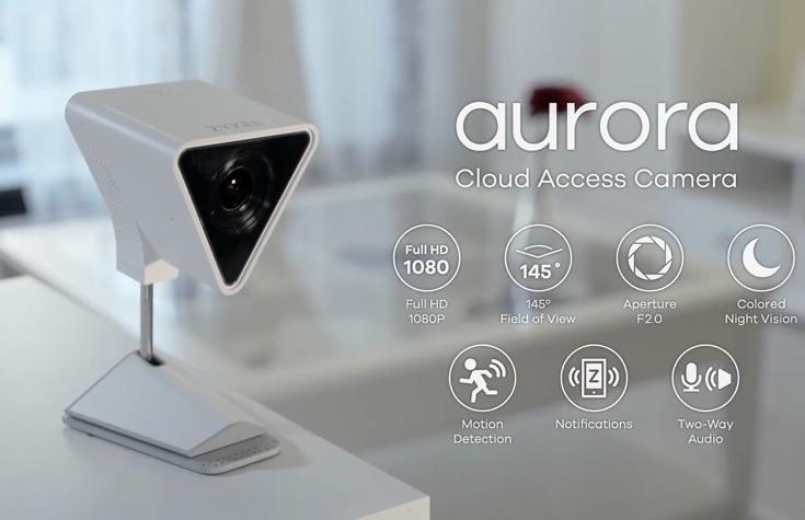 Камера Zyxel Aurora Cloud Access Camera (CAM3115) обеспечивает видеонаблюдение за домом с трансляцией на мобильные устройства
