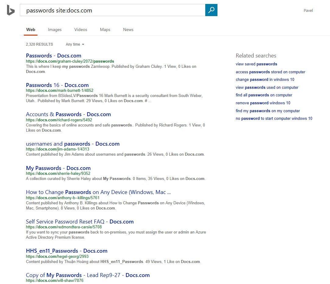 На Docs.com доступны для поиска конфиденциальные документы пользователей Office365 - 6