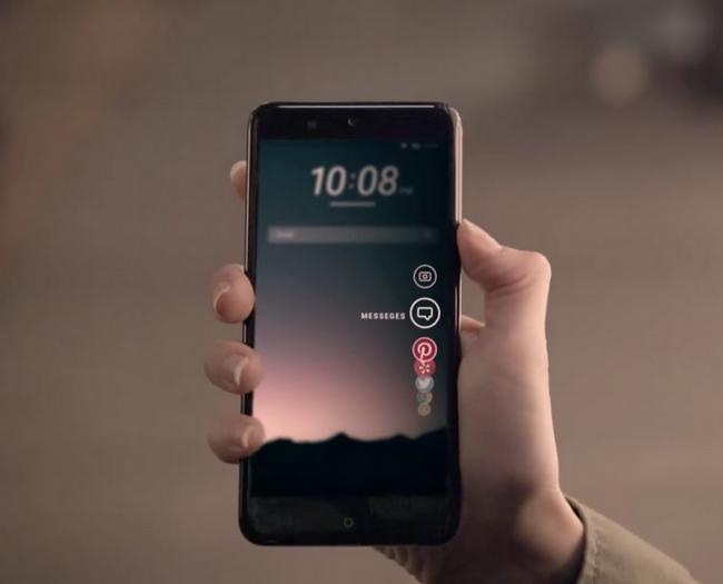 Смартфон HTC U с сенсорными боковыми панелями Edge Sense должны представить в апреле