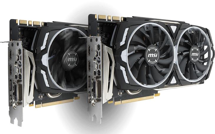 Ускоритель MSI GeForce GTX 1080 Ti ARMOR 11G обзавелся вентиляторами MSI Torx