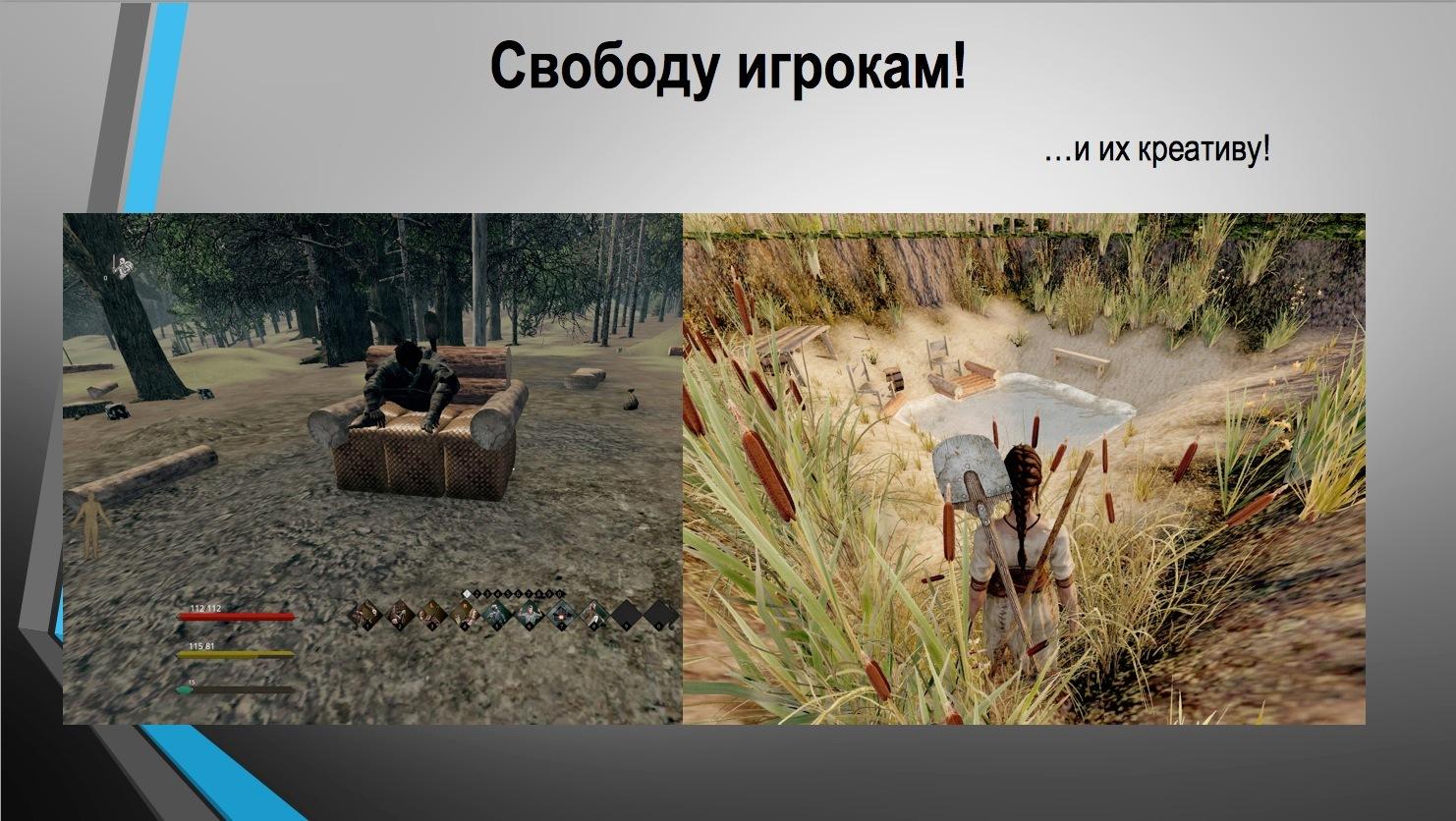 Конспект лекции про дизайн игровых механик сэндбокс-проектов от создателя Life is Feudal - 6