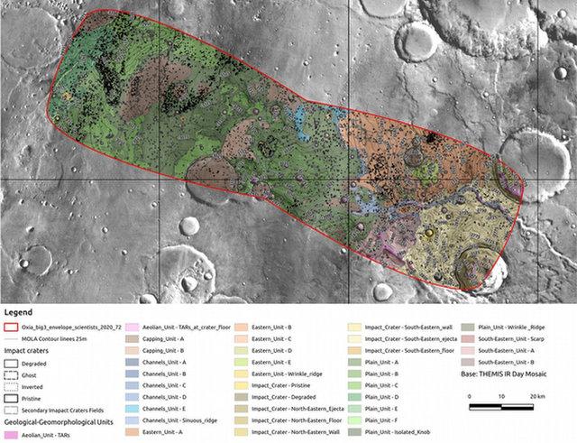 Определены два возможных места посадки марсохода программы «Экзомарс» - 3