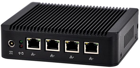 Четыре порта Gigabit Ethernet платы Qotom Q1900G4-M подключены к контроллерам Intel