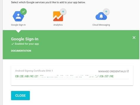 Аутентификация OAuth2 в приложении посредством Google Sign-In. Непрерывный доступ к API Google - 3