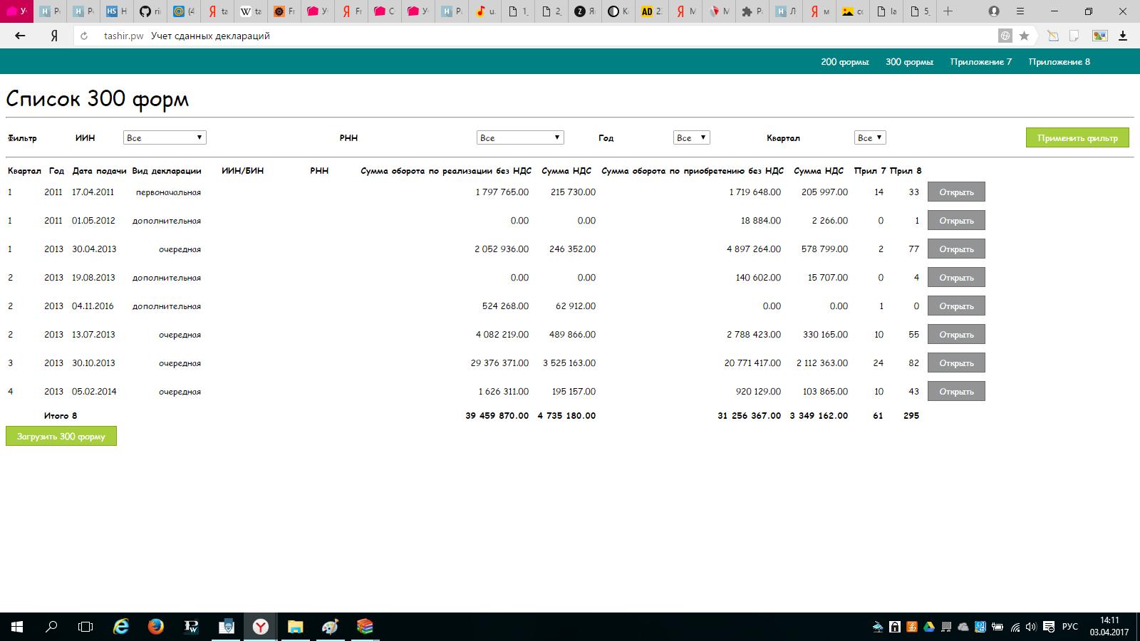 Разработка → Казахстан: Как я помогал сдать 100 форму налоговой отчетности. Продолжение 300 форма - 10