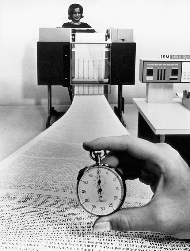 Как принтер IBM 1403 печатал в 1963 году 1100 строк в минуту? Секрет в электромагнитных молоточках - 3