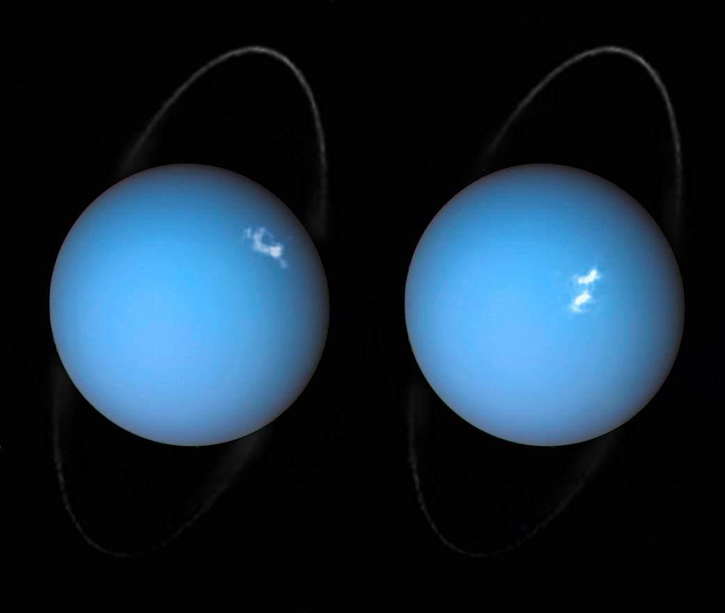 НАСА опубликовало снимки полярного сияния на Уране - 1