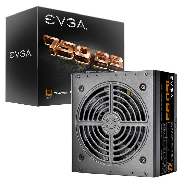 Блоки питания EVGA B3 имеют сертификат 80 Plus Bronze