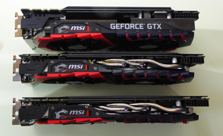 Конструкция системы охлаждения 3D-карты MSI GeForce GTX 1080 Gaming X Plus включает два вентилятора