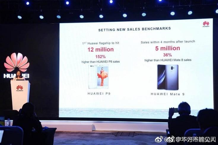 Смартфон Mate 9 продаётся почти также хорошо, как P9 и P9 Plus