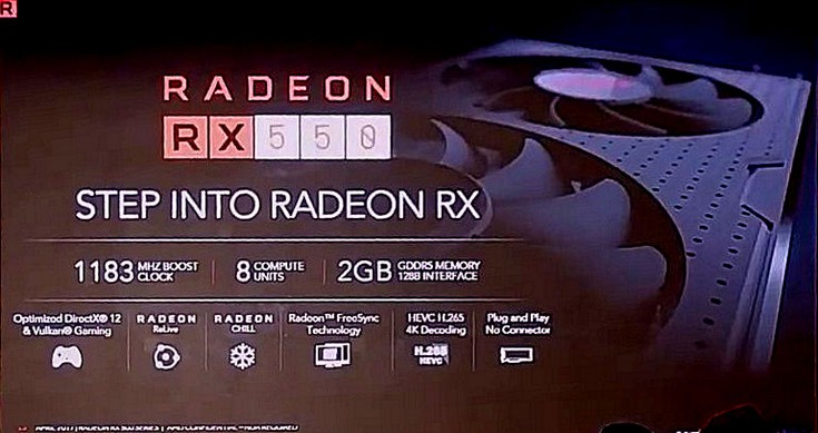 Адаптер Radeon RX 550 получит 512 потоковых процессоров