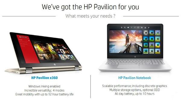 Обновленные HP Pavilion и Pavilion x360