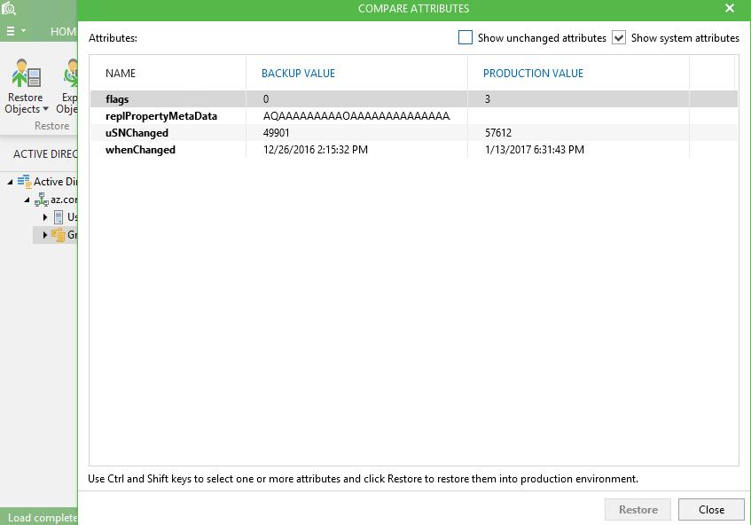 Восстановление объектов групповых политик (GPO) с помощью Veeam Explorer для Active Directory - 3
