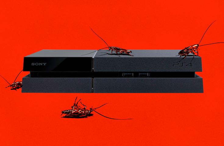 PlayStation 4 пользуется у тараканов успехом