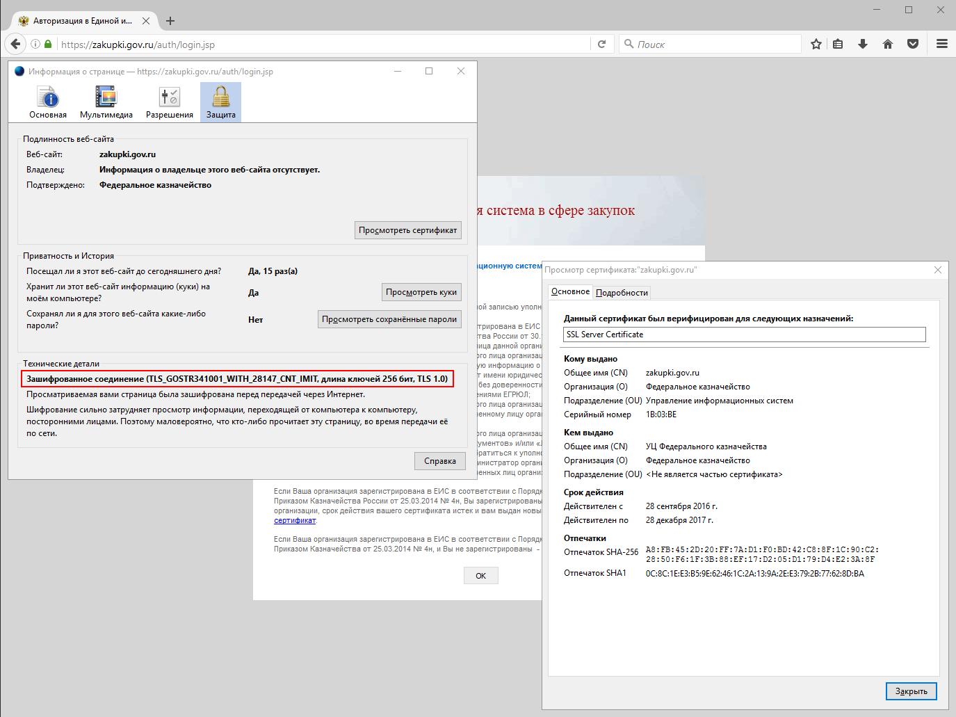 Заходим в личный кабинет на zakupki.gov.ru без Internet Explorer и другие полезные советы при работе с КриптоПро - 2