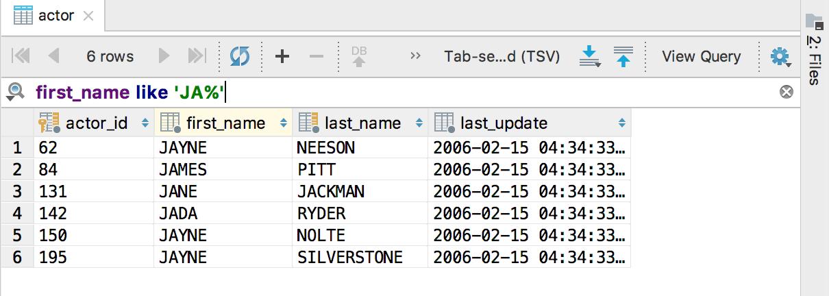 Как искать в DataGrip - 7